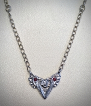 Winged Heart with Sapphires