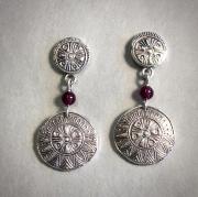Sun Ra Garnet Bead Earrings