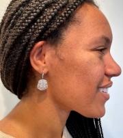 heart textured earrings