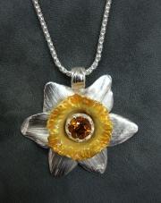 Daffodil - Silver and Enamel