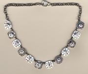 Oxidized Jewelers Quilt Neckpiece