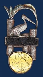 Pelican Pier Brooch