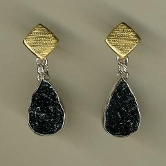 Shapes Drusey Hematite Earrings