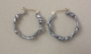 Vine Hoop Post Earrings