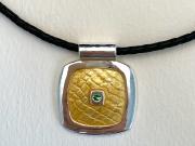 Royal-Fiber enamel pendant