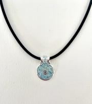 blue wave enamel pendant