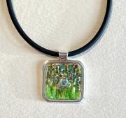 wildflowers enamel pendant