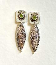 textured peridot earrings