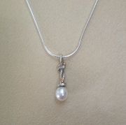 Large Pearl Drop Vine Pendant